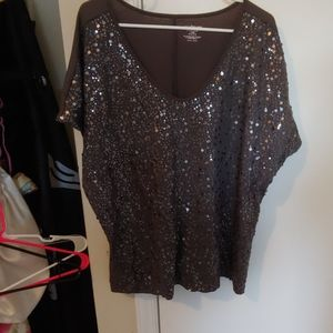 Lane Bryant sequined top